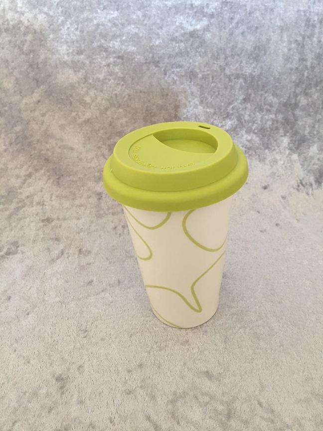 Termomugg med silikonlock_lime