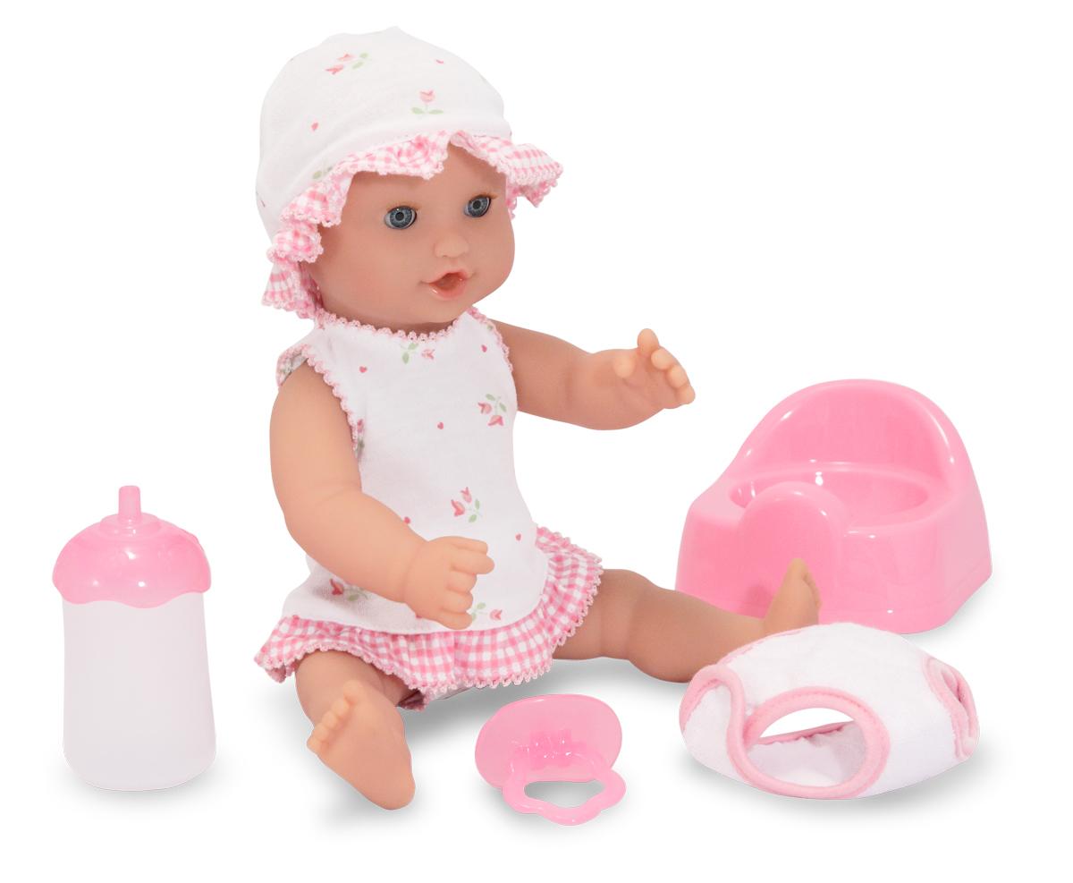 Annie-dricker och kissar docka