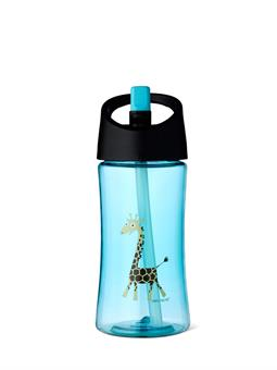 Vattenflaska 0,35 l_turkos_giraff