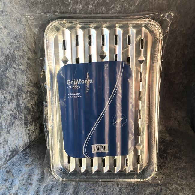 12 Grillform i aluminium 3-pack
