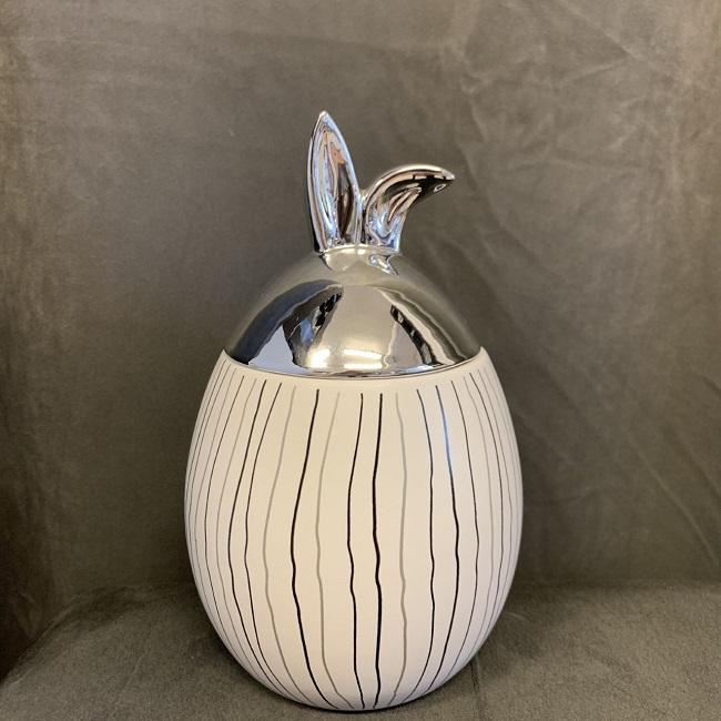 Rabbit Jar - Stor med silverlock randig