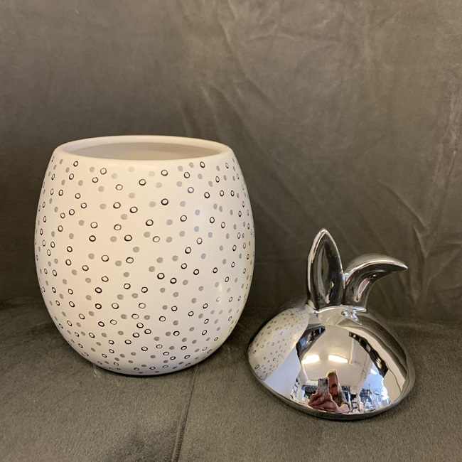 Rabbit Jar - Stor med silverlock prickig