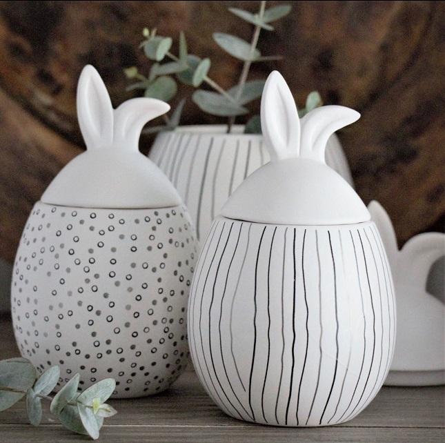 Rabbit jar- Liten med vita lock_02