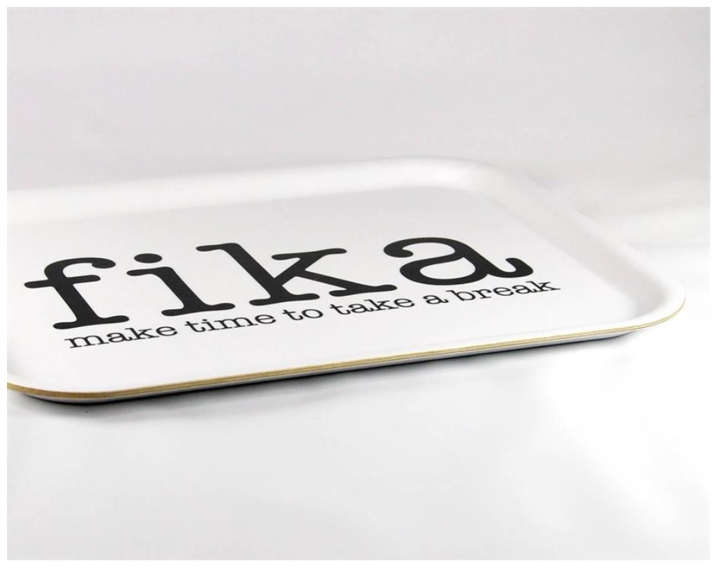 Bricka Fika - make time for a break vit_svart text_03