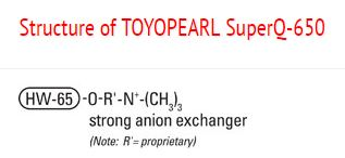 Structure of Toyopearl SuperQ-650