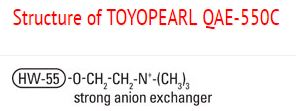 Structure of Toyopearl QAE-550C