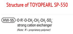 Structure of Toyopearl SP-550