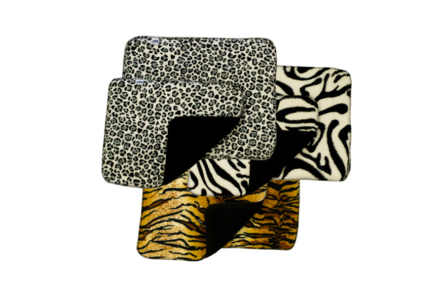 paddar tiger,zebra,snöleo