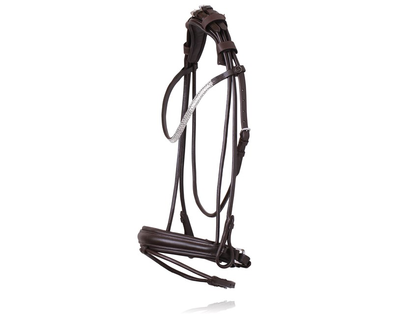 R-296 SD CROWN Davinci rolled bridle brownW