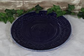 tallrikblå tallrik-porslin