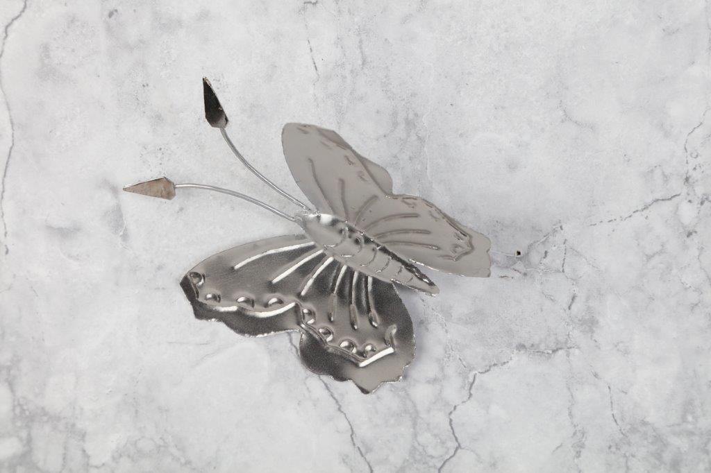 fjäril-plåt fjäril-silver fjäril