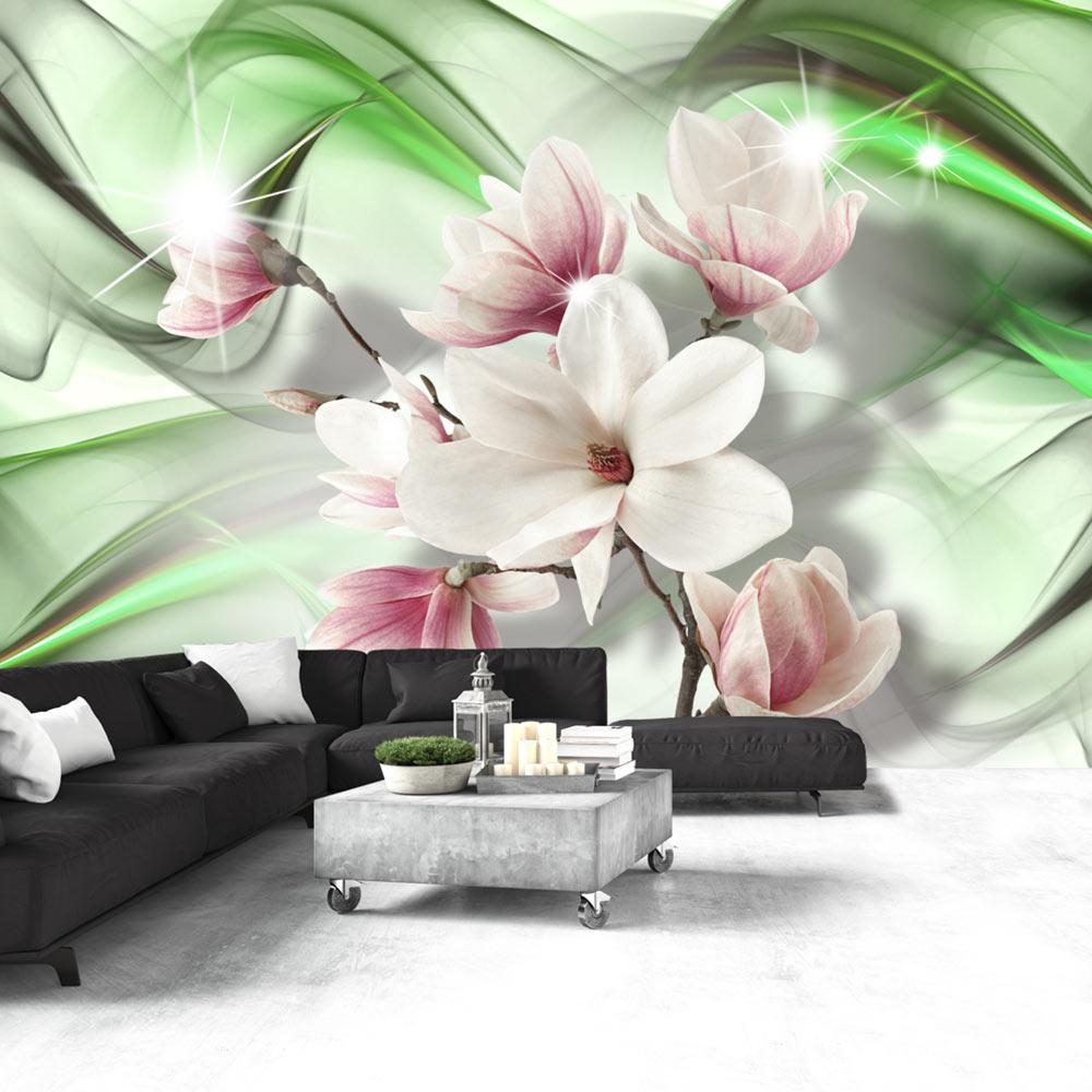 Fototapet - Magnolia - Green Wave