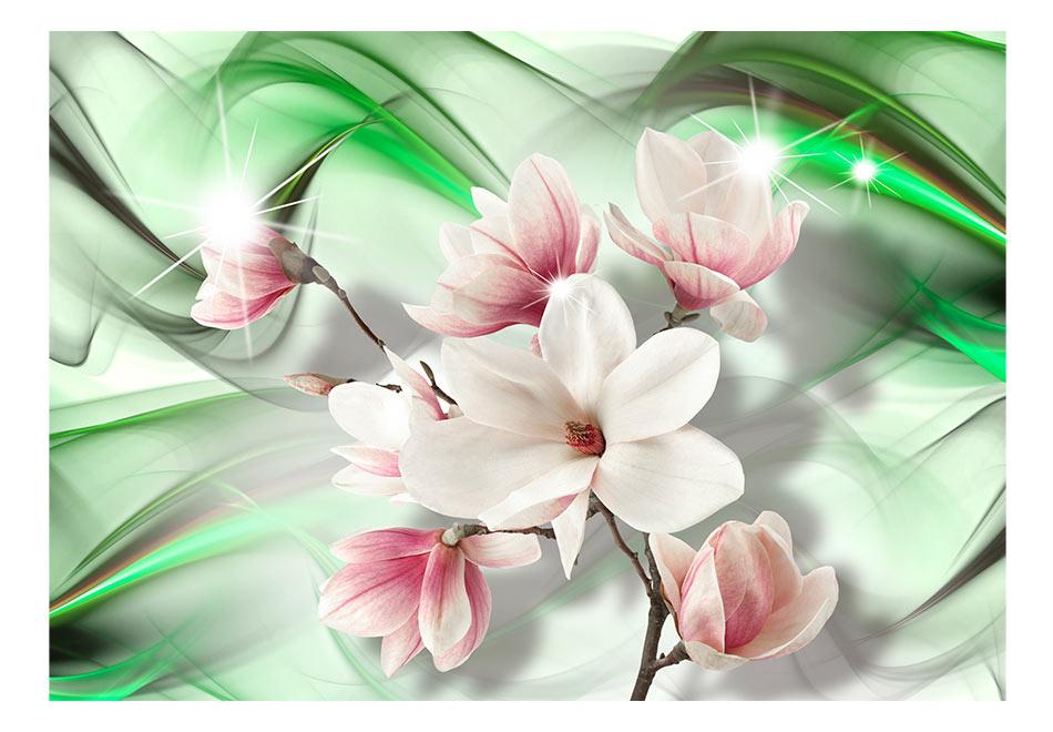 Fototapet - Magnolia - Green Wave1