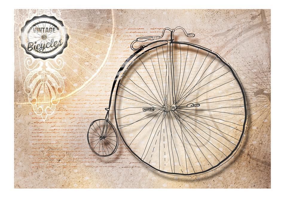 Fototapet - Vintage bicycles - sepia1
