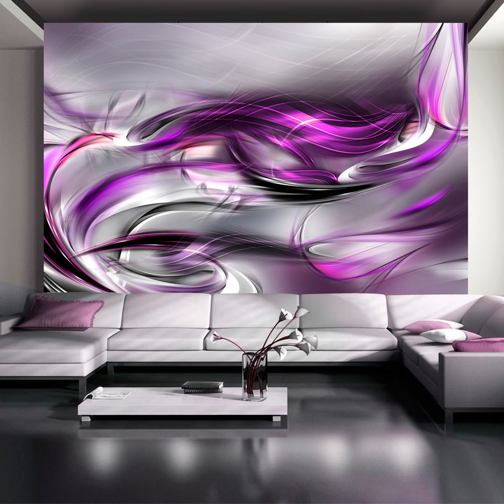 Fototapet - Pink swirls