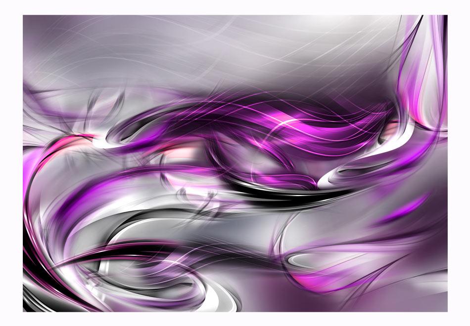 Fototapet - Pink swirls1