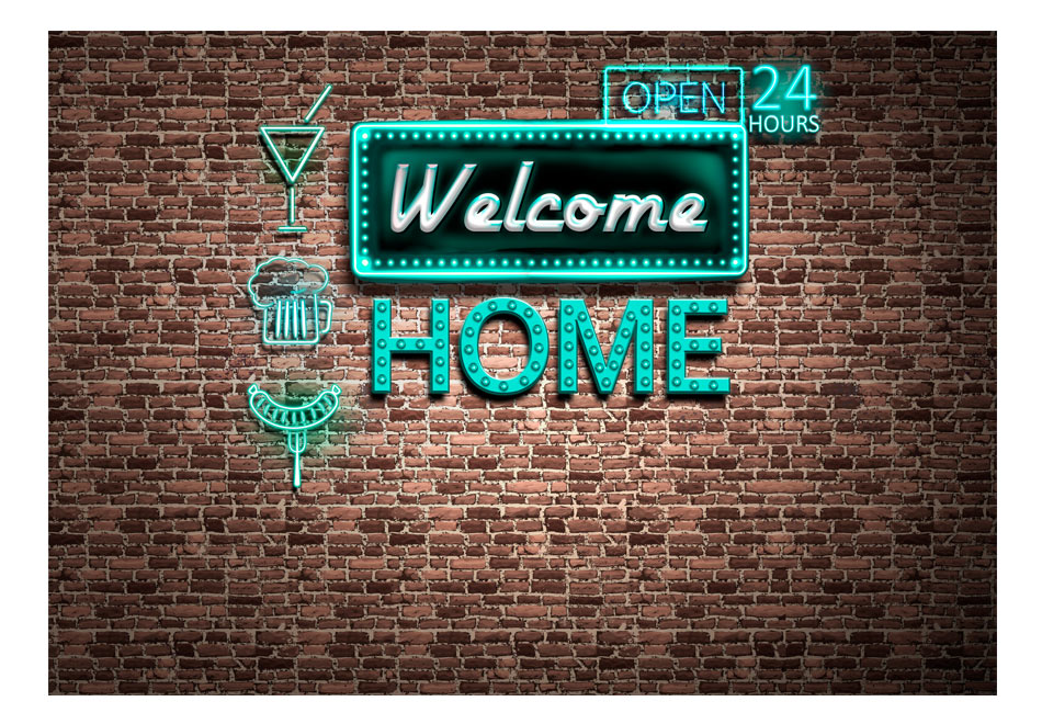 Fototapet - Welcome home - inscription1