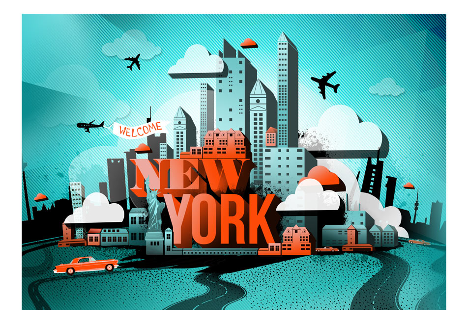 Fototapet - Welcome New York1