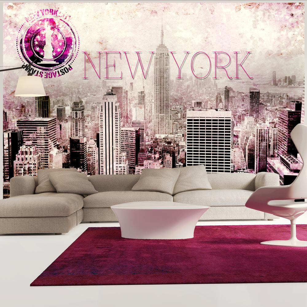 Fototapet - Pink New York