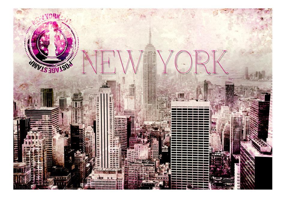 Fototapet - Pink New York1