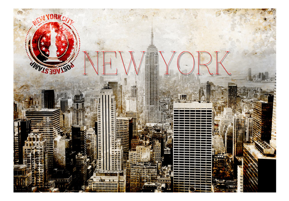 Fototapet - New York - POST AGE STAMP1