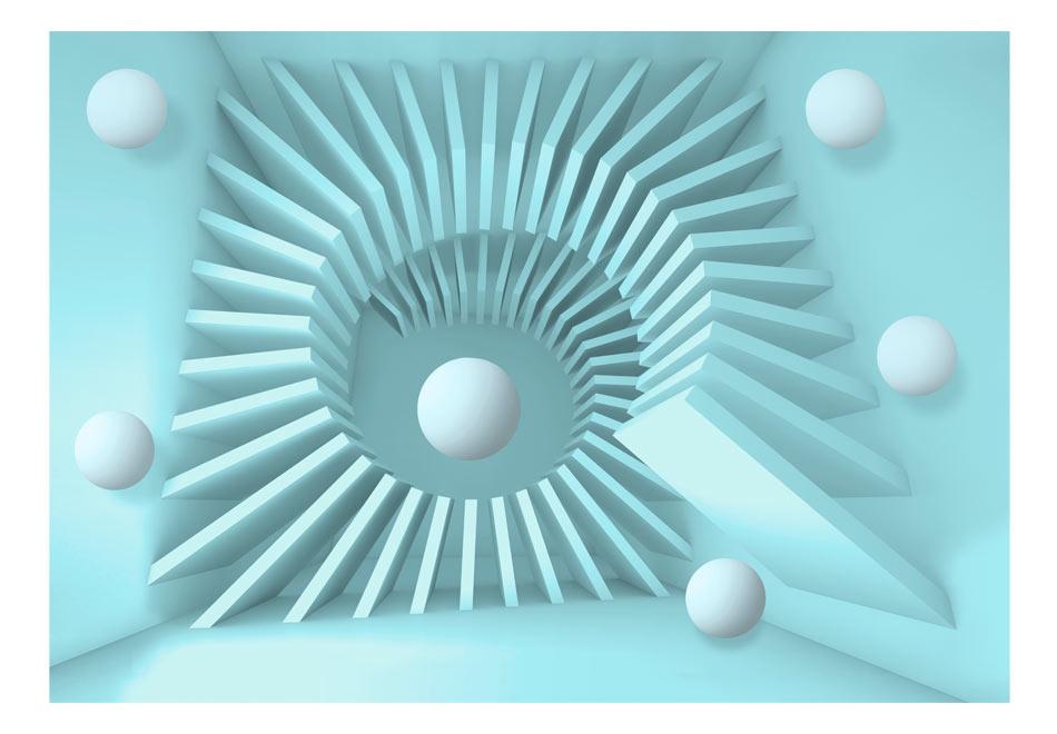 Fototapet - Blue maze1