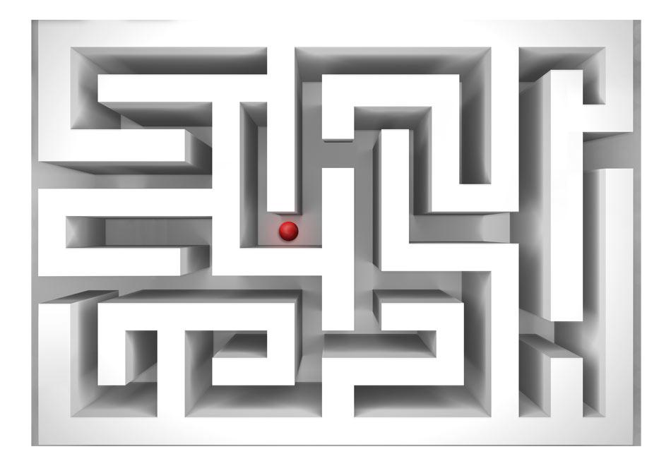 Fototapet - Ice labyrinth1