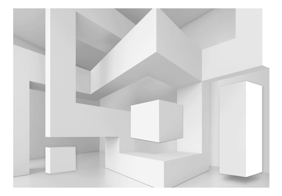 Fototapet - White geometry1