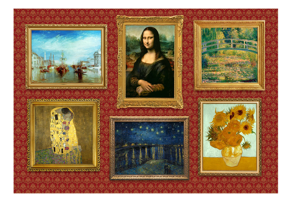 Fototapet - Red wall of treasures1
