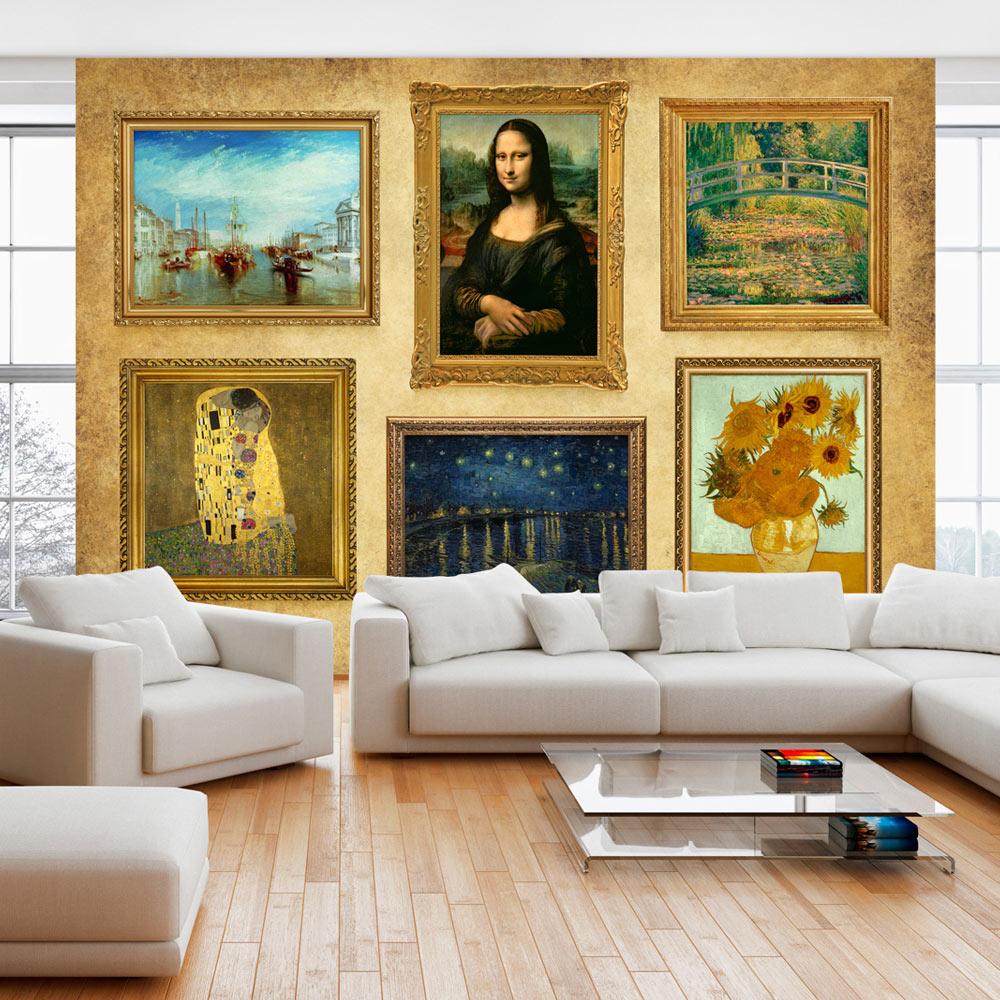 Fototapet - Beige wall of treasures