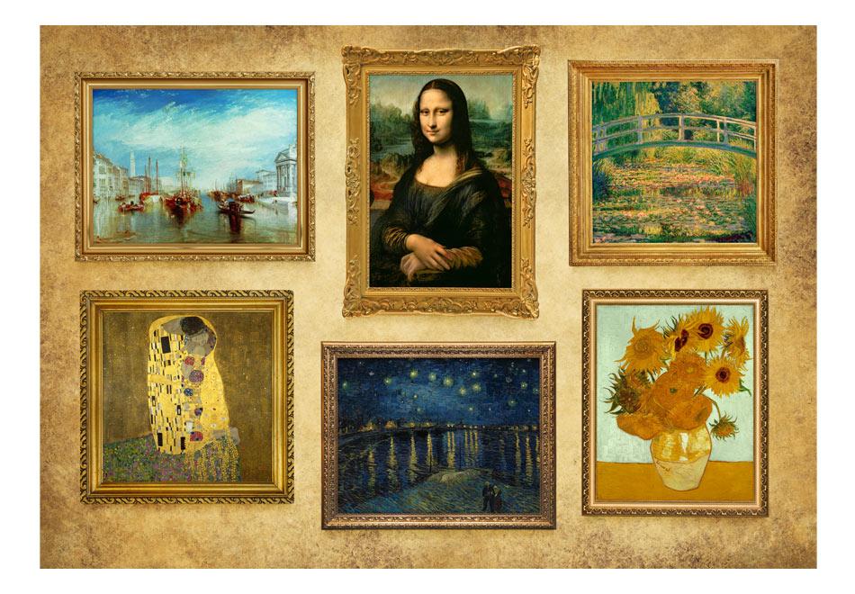 Fototapet - Beige wall of treasures1