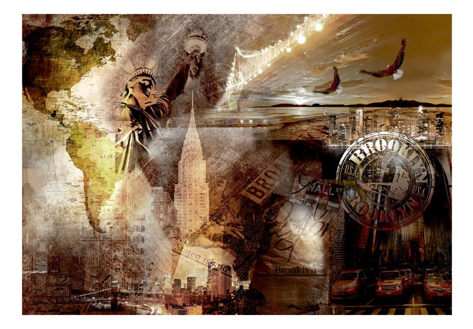 Fototapet - Symbols of Brooklyn1
