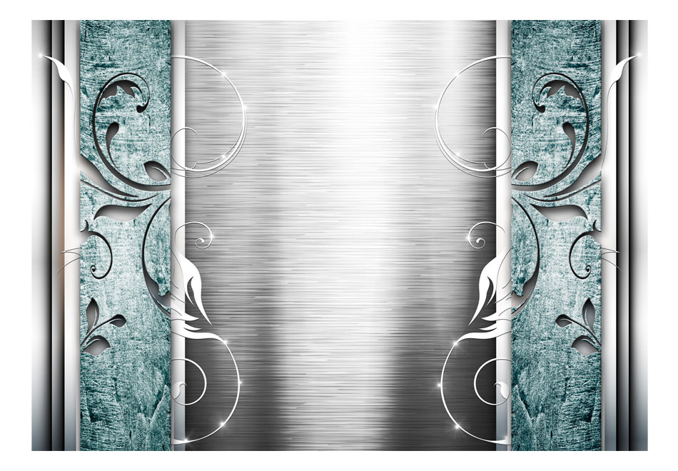 Fototapet - Steel leaves with turquoise.jpg1