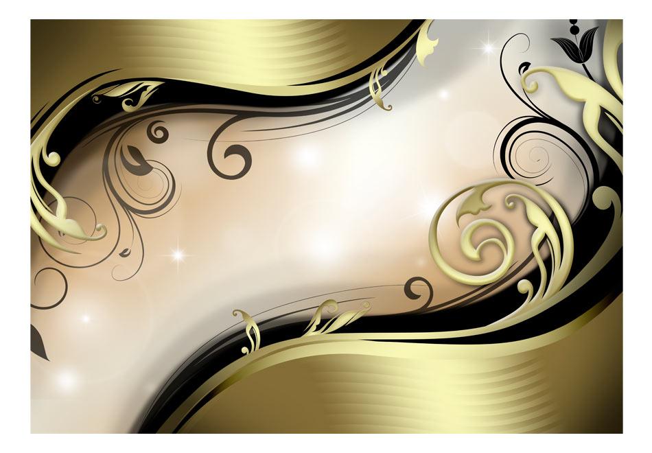 Fototapet - Wavy gold1