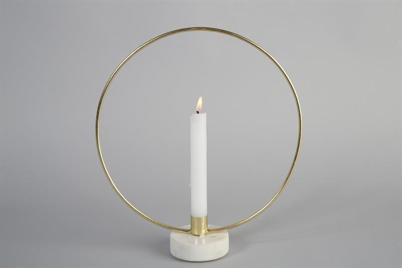 ljusstake-guld ring ljusstake