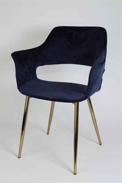 stol-marinblå stol-stol klädd i sammet