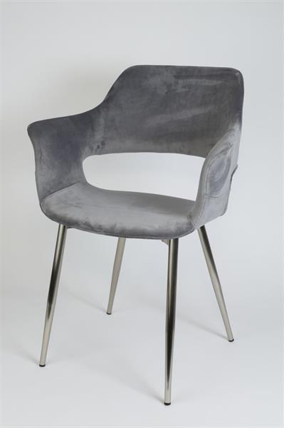 stol-stol klädd i grå sammet