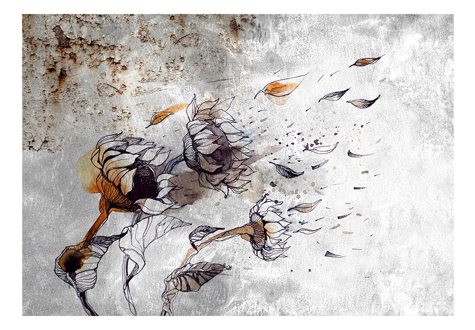 Fototapet - Recall sunflowers