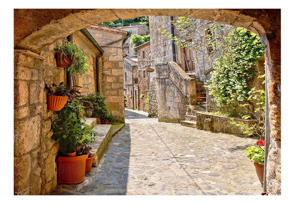 Fototapet - Provincial alley in Tuscany