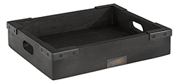 THE BAKERY TRAY Black (2 size) - THE BAKERY TRAY Black w 30 x d 25 x h 6 cm