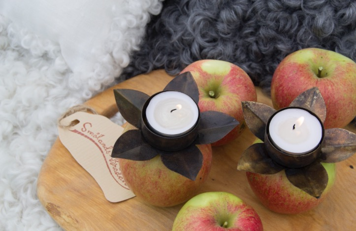ljushållare i äpple