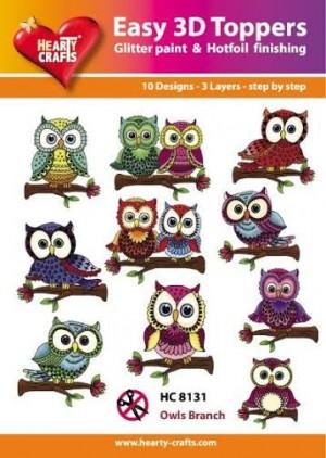 Easy 3D utstansat - Owls Branch