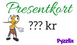 Pyzzlix Presentkort Valfri valör - Pyzzlix Presentkort Valfri valör