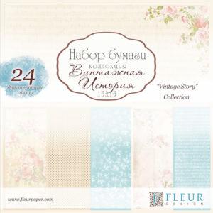 Fleur Design Pappersblock - Vintage Story - Fleur Design Pappersblock - Vintage Story
