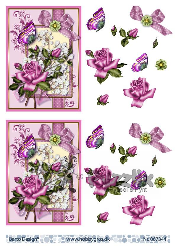 Barto Design 3D Klippark - Blommor, fjäril
