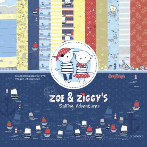 ScrapBerrys Pappersblock - Zoe & Ziggys Sailing Adventures Set 6x6 - 24sheets 609909X_1