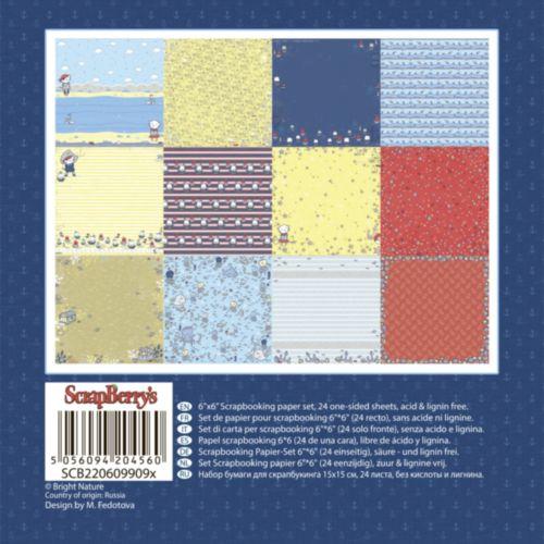 ScrapBerrys Pappersblock - Zoe & Ziggys Sailing Adventures Set 6x6 - 24sheets 609909X_2