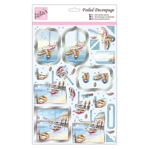 Foiled Decoupage - By The Seaside  ANT 169735