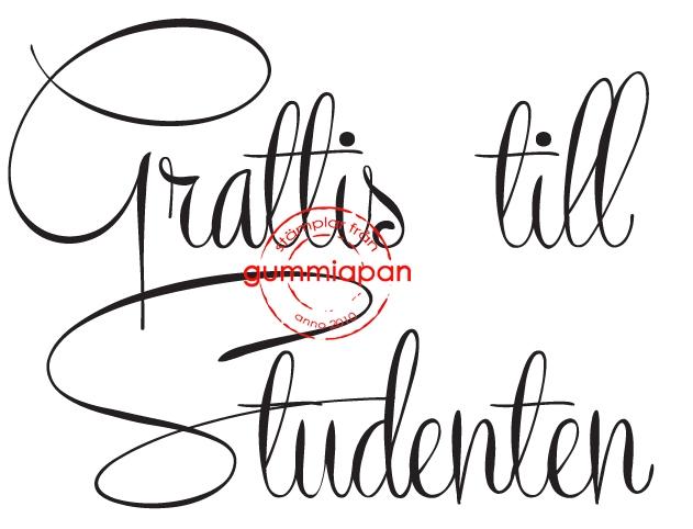 grattis text till studenten Gummiapan Stämpel   Grattis till Studenten | Pyzzlix Pyssel & Pynt grattis text till studenten