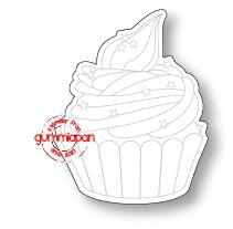 Gummiapan Dies + Stämpel - Stor Cupcake - Gummiapan Dies + Stämpel - Stor Cupcake